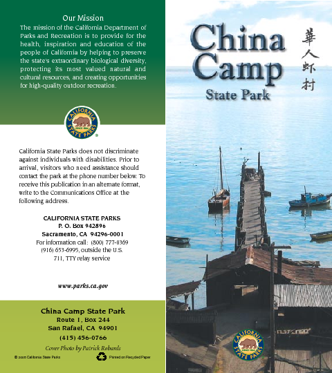 China Camp State Park Map