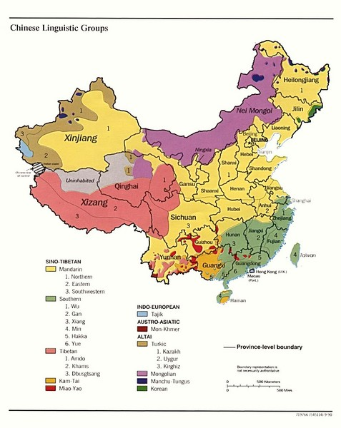 China Linguistics Map
