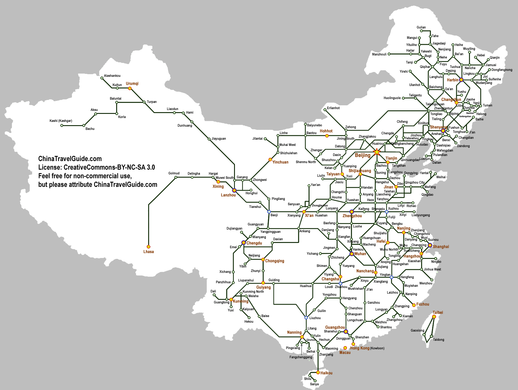 Chinese railway network trains for China railway 13 bureau group corporation