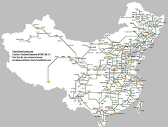 China Railway Map