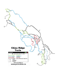 China Ridge XC Ski Trail Map