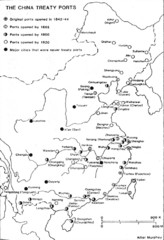 China Treaty Ports Map