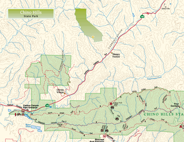 Chino Hills State Park NW Map