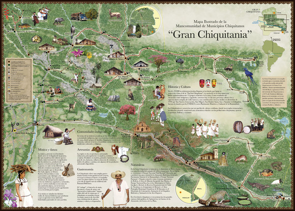 Chiquitania Region Tourist Map \u2022 mappery