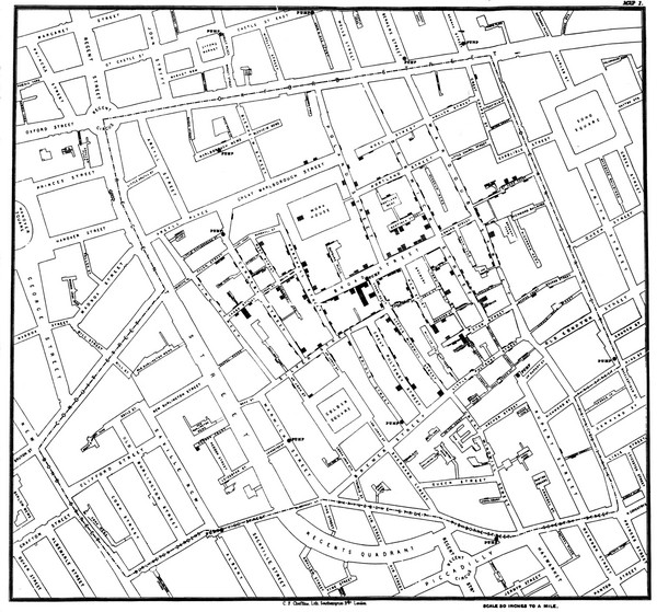 Cholera Outbreak of London Map