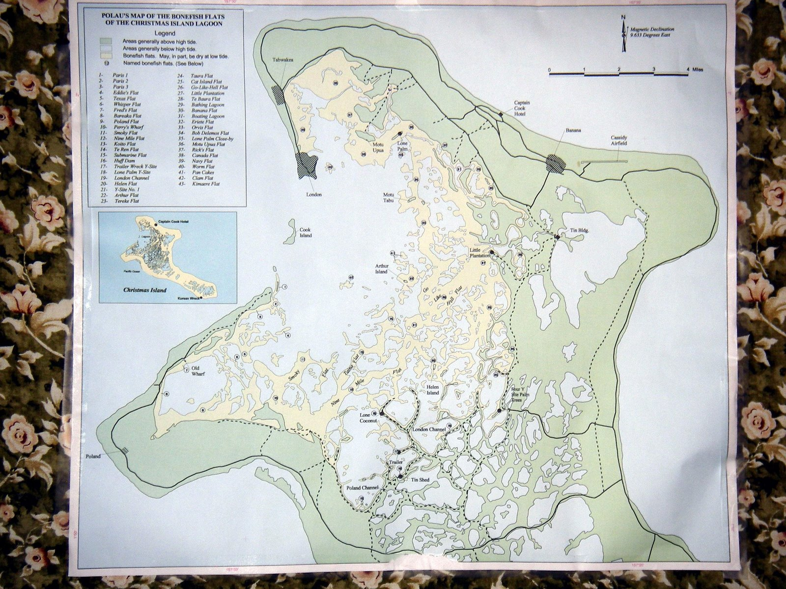 Christmas Island Bonefish Flats Map - Kiritimati • mappery