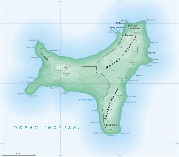 Where Is Christmas Island On A Map.Christmas Island Map Christmas Island Mappery
