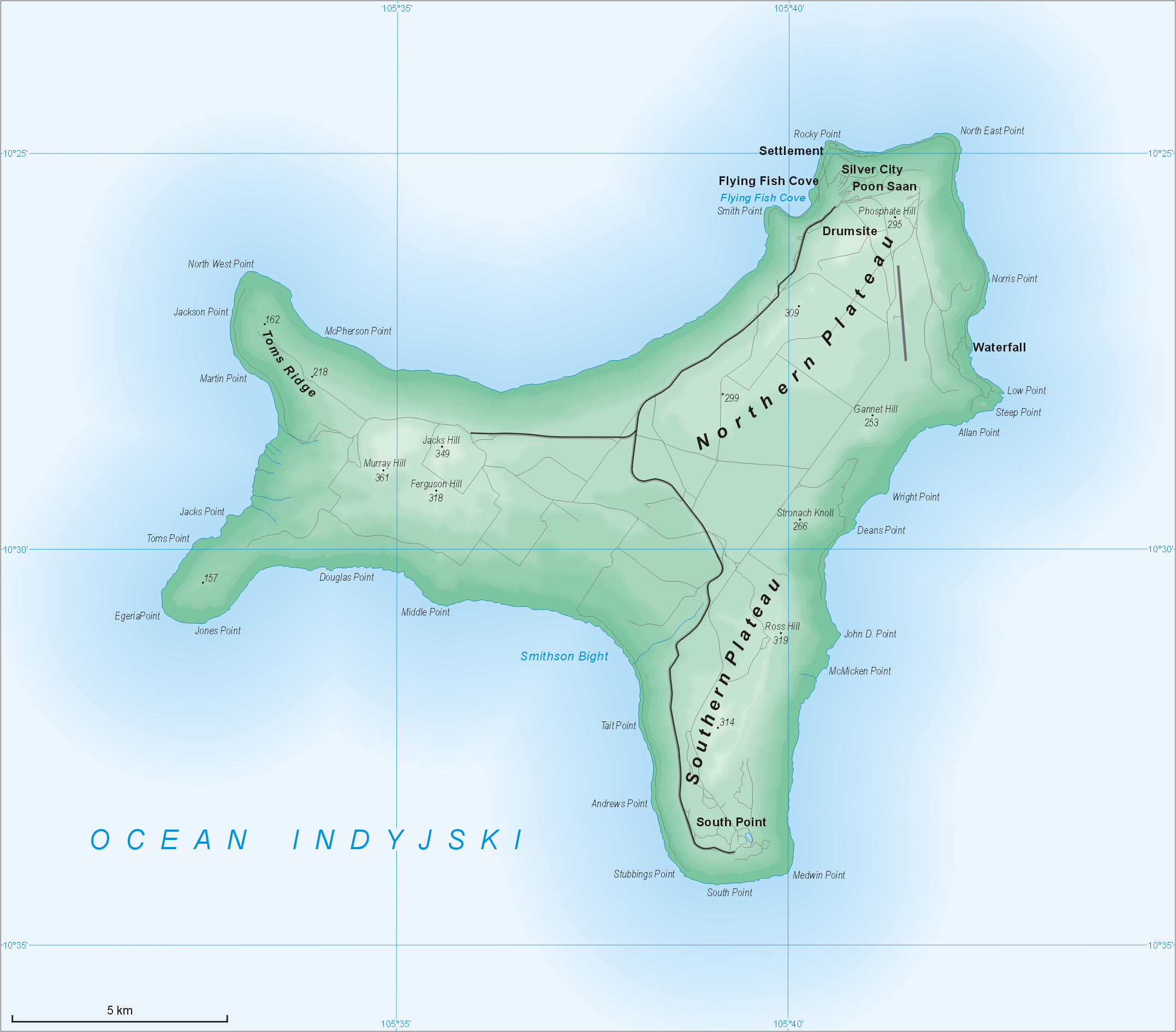 Christmas Island Bonefishing Map