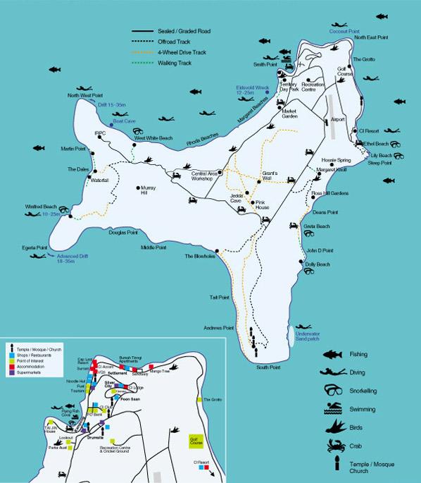 Christmas Island Tourist Map \u2022 Mappery: Map Christmas Island At Infoasik.co