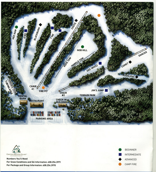 Christmas Mountain Village Ski Trail Map