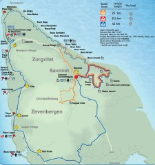 Christoffel Park Mountain Biking Trail Map