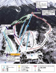 Ciao Ontake Ski Trail Map