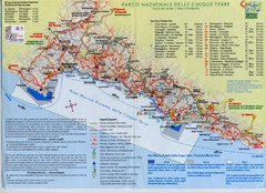 Cingue Terre-map Map