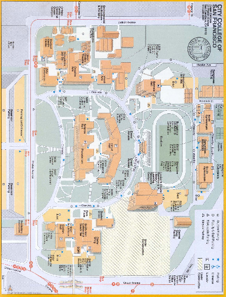City College of San Francisco   Ocean Campus Map   50 Phelan Ave
