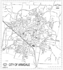 City Of Armidale Map