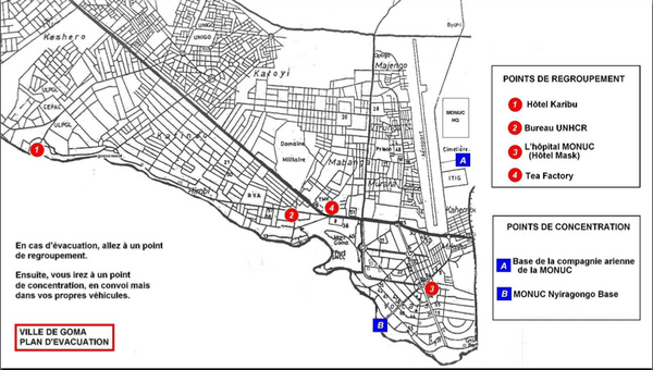 City of Goma Evacuation Plan, late 2007 Map