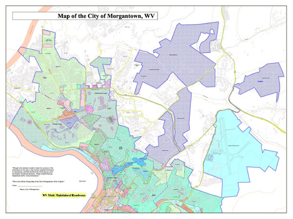 City of Morgantown, West Virginia Zoning Map