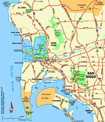 City of San Diego, California Map
