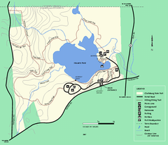 Clarksburg State Park trail map