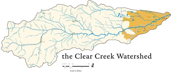 Clear Creek Watershed Map