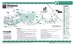 Cleburne, Texas State Park Facility and Trail Map