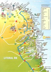 Coast line - Rio Grande do Norte Map