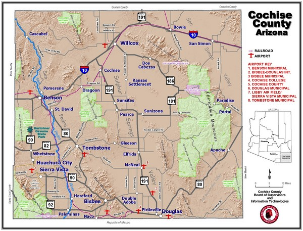 Cochise County Map