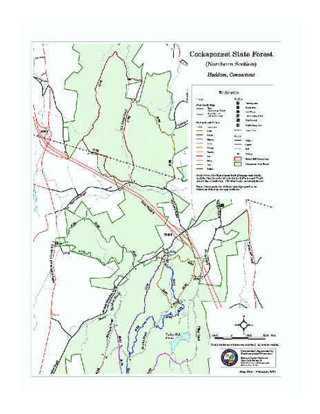 Cockaponset State Forest North Section trail map