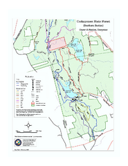 Cockaponset State Forest South Section trail map