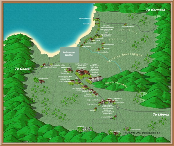 Coco Beach Tourist Map