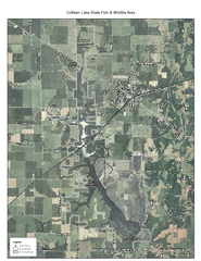 Coffeen Lake, Illinois Site Map