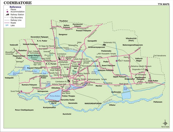 Coimbatore City Map