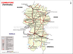 Coimbatore Tourist Map