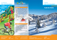Col de Rousset Ski Trail Map