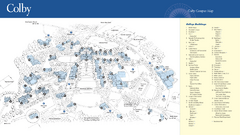 Colby College Campus Map