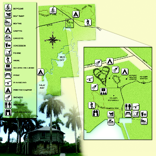 Collier-Seminole State Park Map