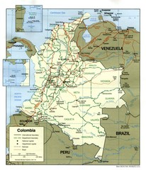 Colombia Country Map