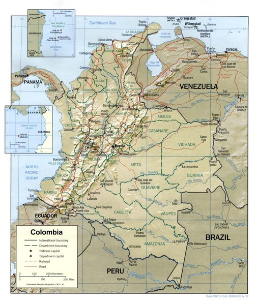 Colombia Regional Map Colombia mappery