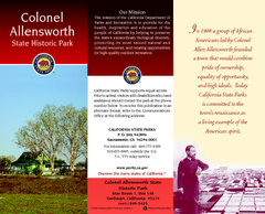 Colonel Allensworth State Historic Park Map