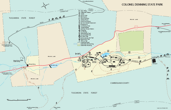Colonel Denning State Park map