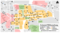 Colonial Williamsburg Map