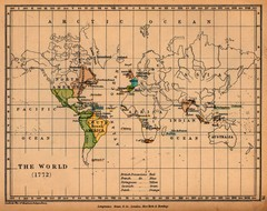Colonial World Map 1772