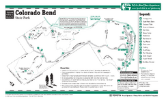 Colorado Bend, Texas State Park Facility Map