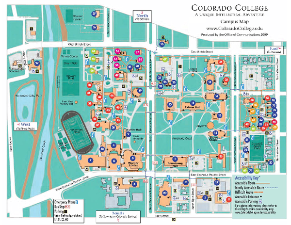 Colorado College Map • mappery