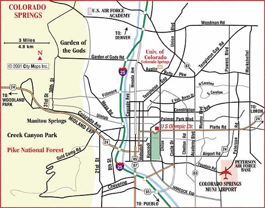 Adorable image intended for printable map of colorado springs