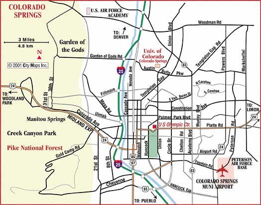 Colorado Springs Colorado City Map Colorado Springs Colorado mappery