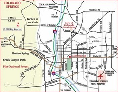 Colorado Springs, Colorado City Map