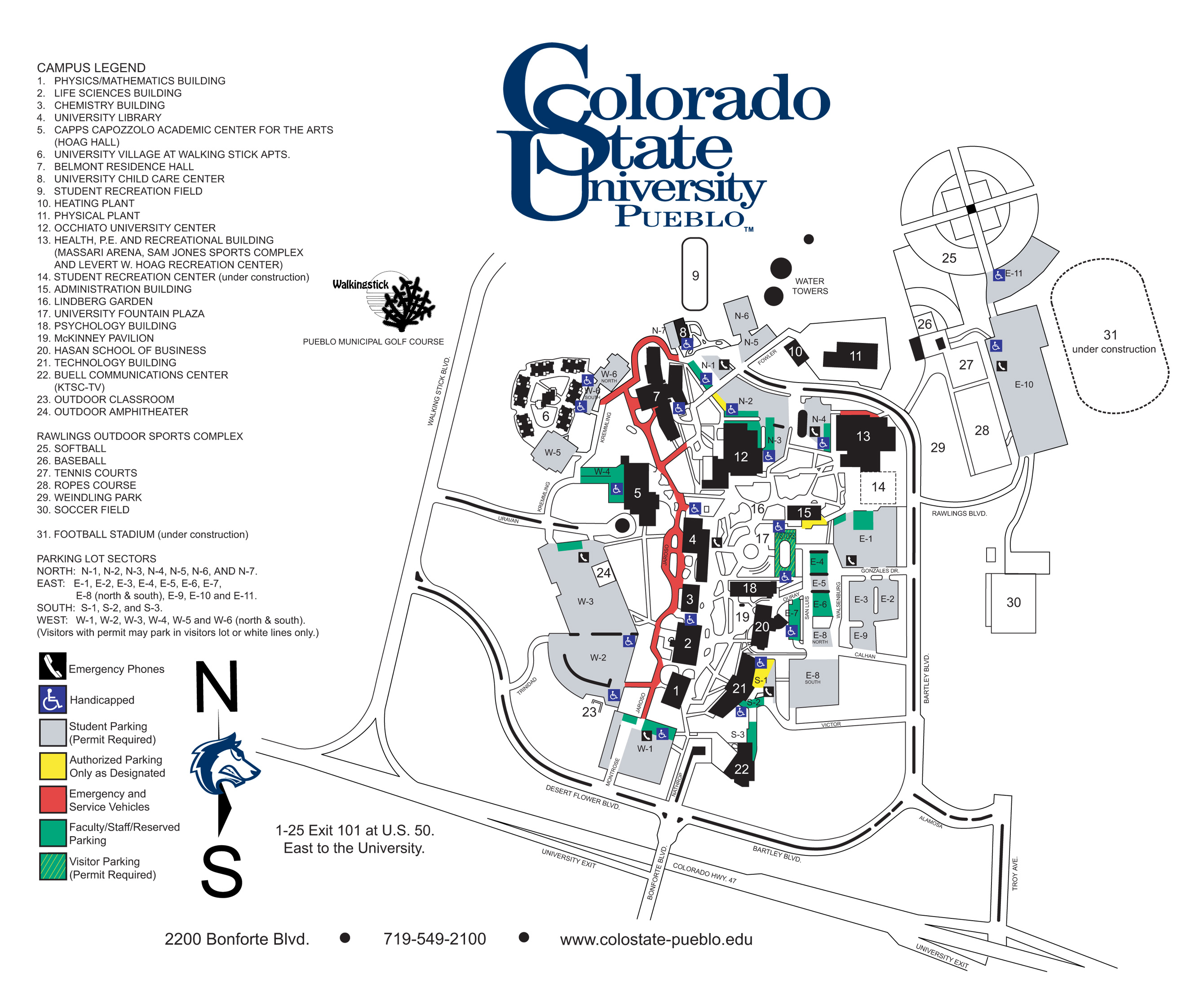 Colorado State University  Pueblo Campus Map  2200