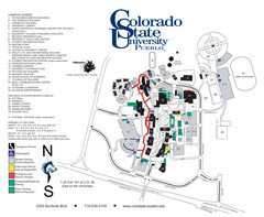 Colorado State University - Pueblo Campus Map