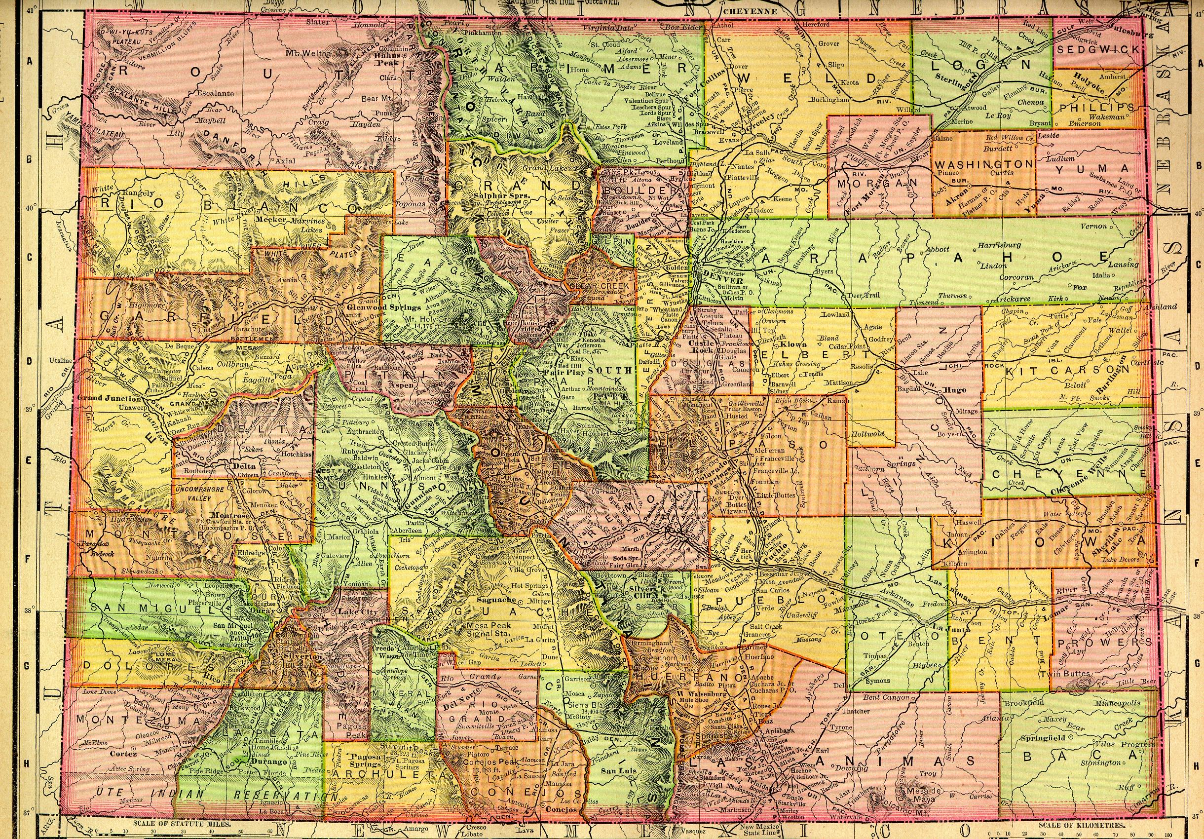 Colorado State Map Colorado Mappery - State of colorado map